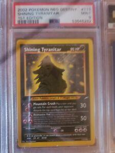 PokémonNeo Destiny 1st Edition Shining Tyranitar PSA 9