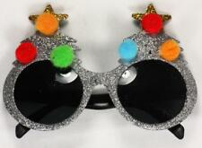 Glitter Tree Novelty Christmas Party Glasses Sunglasses Fancy Dress