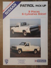 NISSAN PATROL PICK UP orig 1992 French Mkt Sales Brochure Depliant