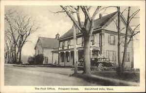 Marshfield Hills MA Prospect St. Post Office c1930s-40s Postcard