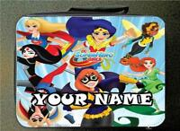 RED Personalised Unofficial DC Girls Heros Insulated Lunch Bag 24CM X 18CM