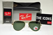new authentic ray ban rb3025 00158 58mm polarized aviator gold framegreen lens