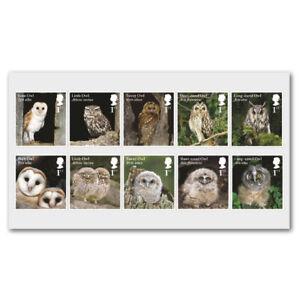 GB 4082-4091 Owls set (10 stamps) MNH 2018