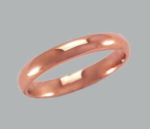 NEW 14K SOLID ROSE GOLD WEDDING BAND RING COMFORT FIT SIZES 2 - 3mm - 4.5 - 11.5