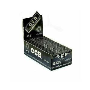 1 5 10 25 50 OCB PREMIUM BLACK REGULAR STANDARD SMOKING CIGARETTE ROLLING PAPERS