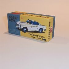 Corgi Toys  258 The Saint Volvo P1800 empty Reproduction  Box