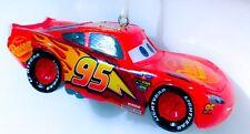 NEW! Disney Cars Lightning Mcqueen Full Sculpt Christmas Ornament Red Car Figure