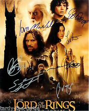 The Lord of the Rings Cast  8 x 10 Autograph Reprint Ian McKellen Elijah Wood +5