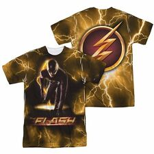 The Flash Bolt Symbol Allover Sublimation Licensed Adult T Shirt