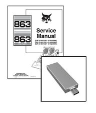 Bobcat 863, 863 Highflow Skid Steer Workshop Repair Service Manual USB Stick