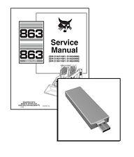 New ListingBobcat 863, Highflow Skid Steer Workshop Repair Service Manual Usb Stick + Dl