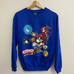 Very Rare Vintage 90s Nintendo Super Mario Bros 3 Crewneck Sweater Youth Size XL