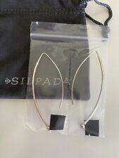 Silpada Sterling Silver BALANCING ACT Threader Long Earrings W1307 .925 CUTE