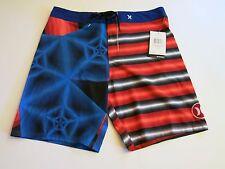 Hurley Men's 32 Phantom Dalek Red Blue Black Board Shorts Beach NWT