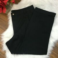Lauren Ralph Lauren Women's Cuffed Classic Black Trouser Dress Pants Sz 16W