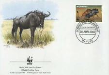 WWF  ANIMALI  FDC MOZAMBICO BUSTA PRIMO GIORNO 2000 KARIBU  2/4