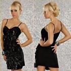 Black Casual Party Dress Size 8 10 Sleeveless Spaghetti Strap Tier Sexy Bodycon