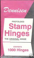 Dennisen Stamp Hinges - 1000 Folded, Peelable Stamp Hinges - Retail $4.99