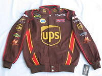 Dale Jarrett #44 UPS NASCAR Cotton Twill Jacket By Chase - Size: MEDIUM