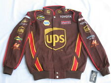 Dale Jarrett #44 UPS NASCAR Cotton Twill Jacket By Chase - Size: MEDIUM