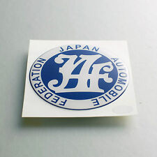 JAF JAPAN AUTOMOBILE FEDERATION STICKER DECAL SOFT COATED DATSUN 510 620 720 D21