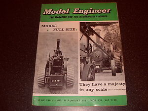 Model Engineer Magazine: Vol: 125 No. 3138 31st Aug 1961