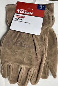 Hyper Tough Suede Gloves Mens Large New With Tags