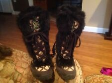 Coach Jennie Rabbit Fur Signature Khaki Brown Boots SIZE: 5 1/2 B NWOB