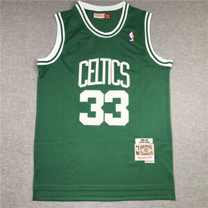 33# Larry Bird Boston Celtics 1985-86 Hardwood Classics Men's Jersey Green