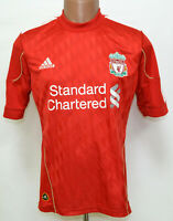 LIVERPOOL ENGLAND 2010/2011/2012 HOME FOOTBALL SHIRT JERSEY ADIDAS SIZE S ADULT