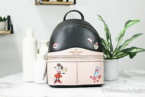 Minnie Mouse X Kate Spade Limited Edition Medium Pebble Leather Backpack Bag