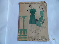 PATRON SUPPLEMENT DE FEMMES D'AUJOURD'HUI  N°927 07/02/1963 ROBE            J49