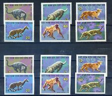 1967 VIETNAM Wild Animals, animales salvajes, fauna ,Perforada e Imperforada