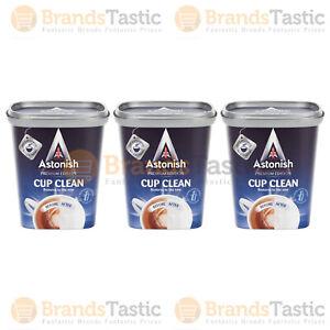 3 X ASTONISH PREMIUM EDITION CUP CLEAN TEA COFFEE HOT CHOCOLATE SOUP 350G