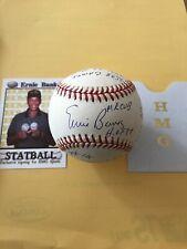 Ernie Banks SIGNED Autographed  NL Baseball STAT BALL  HMG Reggie Jackson COA