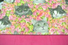Cats Kittens Flowers Pet Blanket Can Be Personalized 28x22