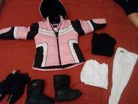 Rothschild Girls Pink Hooded Jacket Size 5/6  Coat Parka thermotech sz4 lot 6