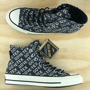 Converse Chuck Taylor 70 High Top Gore Tex GTX Black White Sneakers 162347C Size