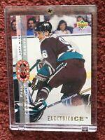HOF PAUL KARIYA 1994 Upper Deck Electric Ice #235 Star Rookie 🏒🌟🏒 In Lucite