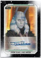 Star Wars Skywalker Saga 2019 ~ JEROME BLAKE Auto/Autograph Card A-JB Mas Amedda