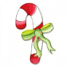Candy Cane with Bow Sizzix Originals Christmas Die 655657