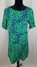 asos women 6 green blue dress short sleeve