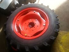 TWO 9.5x24  Kubota 8 Ply Farm Tractor Tires w/Wheels & 6 Hole Centers