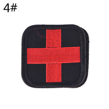 Outdoor Survival First Aid PVC Red Cross Hook Loop Fastener Badge Patch 5�—5cm M&
