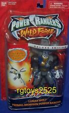 """Power Rangers Wild Force 6"""" Lunar Wolf Falcon Primal Morphin Factory Sealed New"""