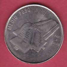 R* DOMINICAN REPUBLIC 1/2 HALF PESO 1989 COLON BEACON XF DETAILS #62187