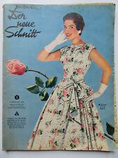 Schwabe - Der Neuer Schnitt Nr 5/1955, mit Schnittmusterbogen und Schlüssel