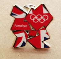 Union Jack Olympic Logo Metal Pin Badge Scarf Tie Coat Jacket London 2012 Games
