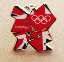Union Jack OLYMPIC LOGO IN METALLO PIN BADGE Cappotto Giacca Cravatta Sciarpa Londra 2012 GIOCHI