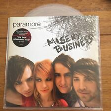 """Paramore – Misery Business 7"""" clear vinyl in poster sleeve"""